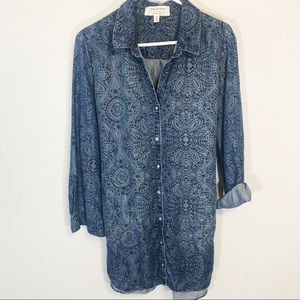 Anthropologie Cloth and Stone denim chambray dress